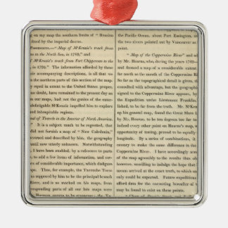 Geographical Memoir continued 3 Christmas Ornament