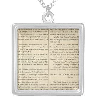 Geographical Memoir continued Silver Plated Necklace