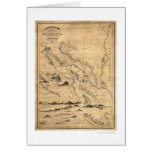 Geographical Nicaragua Map 1855 Card