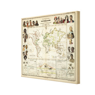 Geographical spread of the human race canvas print