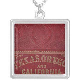 Geographical view of Texas Silver Plated Necklace