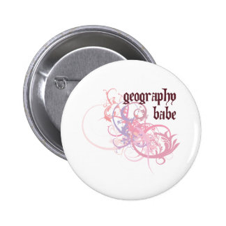Geography Babe 6 Cm Round Badge