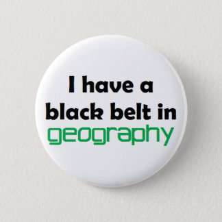 Geography black belt 6 cm round badge