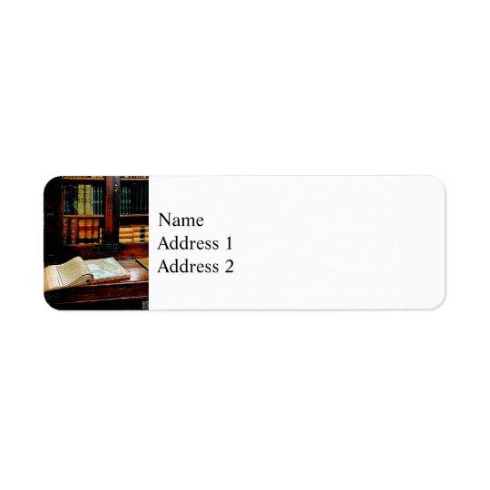 Geography Book Return Address Label