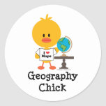 Geography Chick Stickers