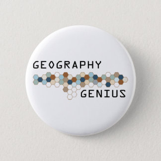 Geography Genius 6 Cm Round Badge