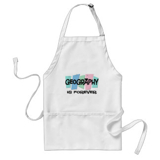 Geography Is Forever Standard Apron
