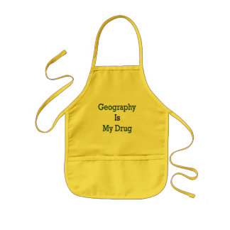 Geography Is My Drug Kids Apron