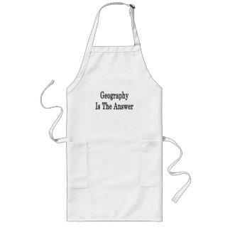 Geography Is The Answer Apron