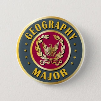 Geography Major 6 Cm Round Badge