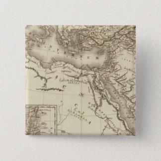 Geography of Hebrews 15 Cm Square Badge