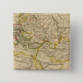 Geography of the Middle Ages 15 Cm Square Badge