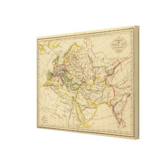 Geography of the Middle Ages Canvas Print