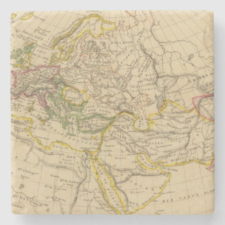Geography of the Middle Ages Stone Beverage Coaster