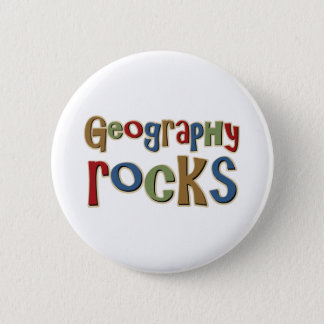 Geography Rocks 6 Cm Round Badge