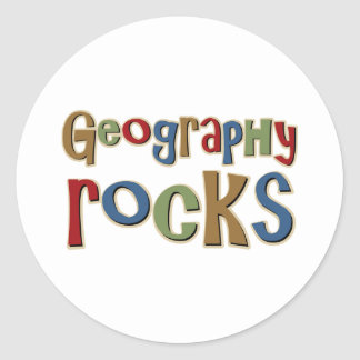 Geography Rocks Classic Round Sticker