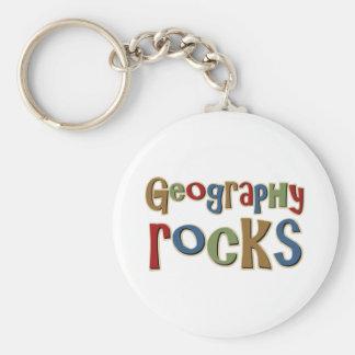 Geography Rocks Keychains