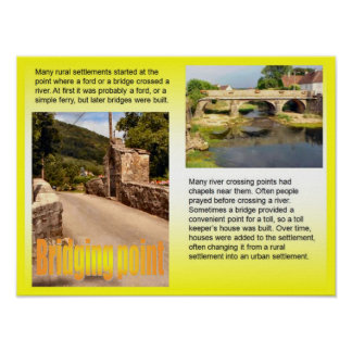 Geography, Social studies, Bridging point Poster