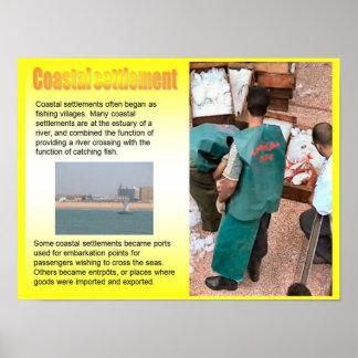 Geography, Social studies, Coastal Settlement Print