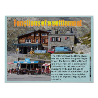 Geography, Social studies, Function of settlements Poster