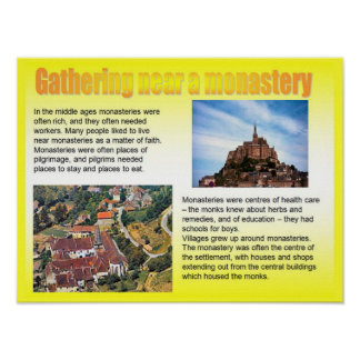 Geography, Social studies, Gathering by monastery Poster