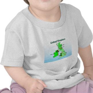 Geography Social Studies United Kingdom Map Shirt