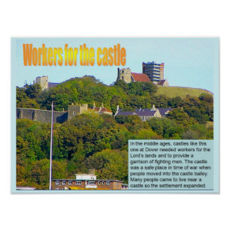 Geography, Social studies, Workers for the castle Poster