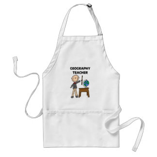 Geography Teacher Adult Apron