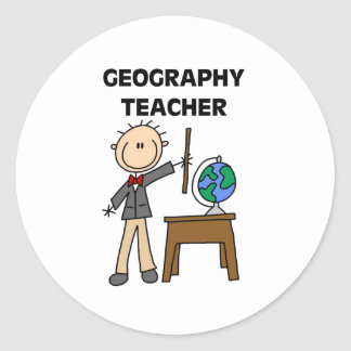 Geography Teacher Classic Round Sticker