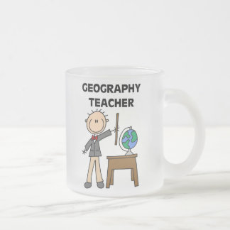 Geography Teacher Frosted Glass Coffee Mug