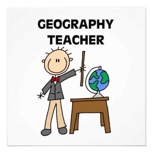 Geography Teacher Custom Announcements