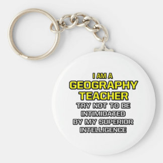 Geography Teacher Superior Intelligence Key Chain