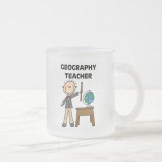 GEOGRAPHY TEACHER Tshirts and Gifts Frosted Glass Coffee Mug