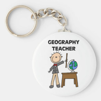 GEOGRAPHY TEACHER Tshirts and Gifts Key Ring
