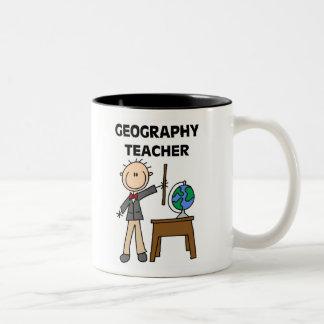 Geography Teacher Two-Tone Coffee Mug
