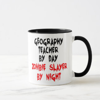 Geography Teacher Zombie Slayer Mug