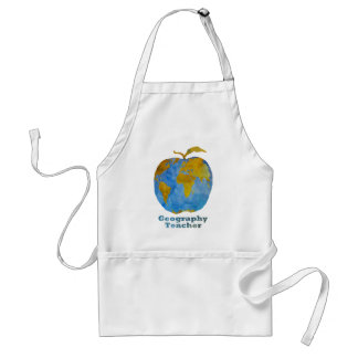 Geography Teacher's Apple Aprons