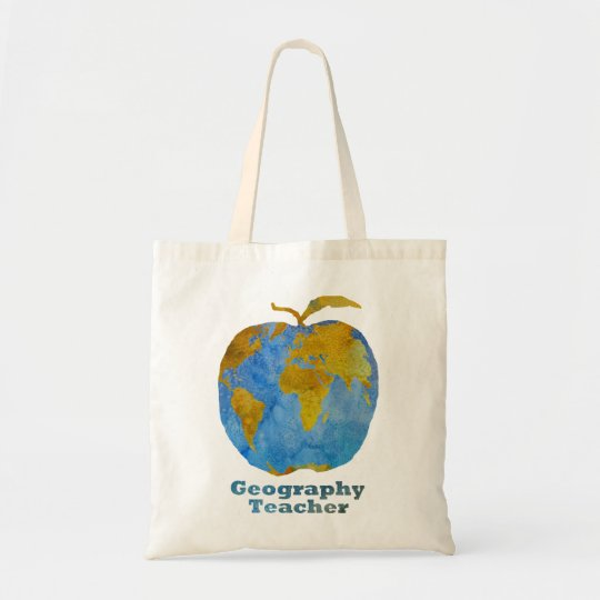 Geography Teacher's Apple Tote Bag