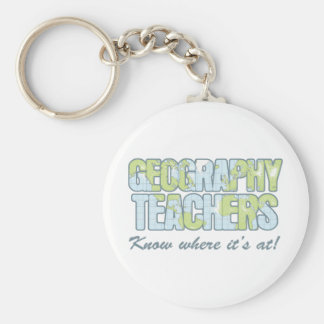 Geography Teachers Know Where It's At Basic Round Button Key Ring