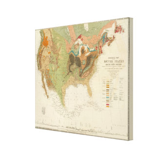 Geol map US Canvas Print