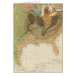 Geol map US Greeting Cards