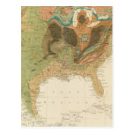 Geol map US Postcard