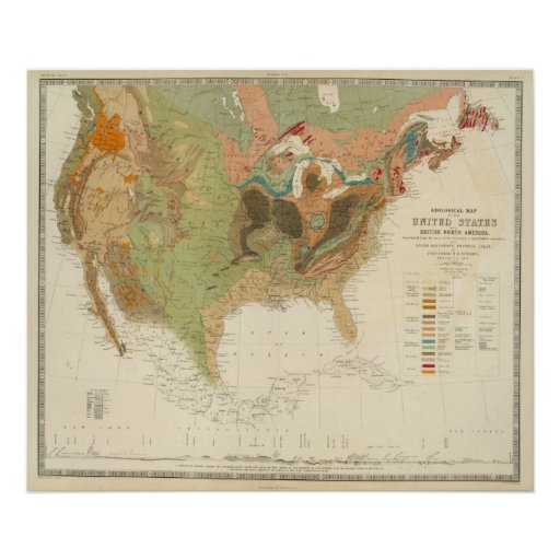 Geol map US Poster