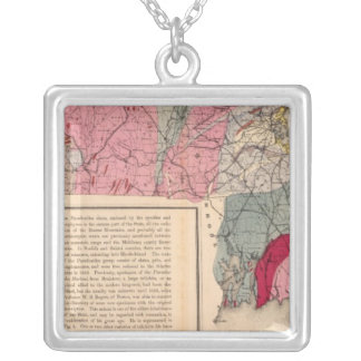 Geol Massachusetts Silver Plated Necklace