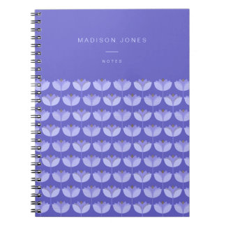 Geolilies - customisable notebook purple pattern