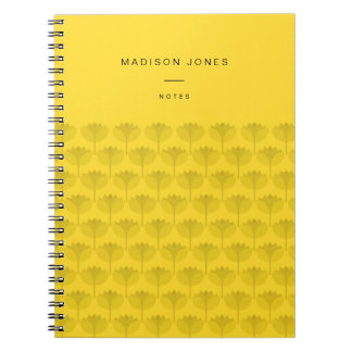 Geolilies - customisable notebook yellow lilies