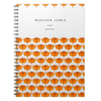 Geolilies - lily pattern customisable notebook