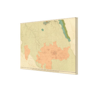 Geologic Map Of The Colorado Plateau Canvas Print
