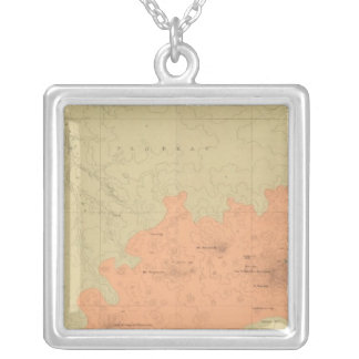 Geologic Map Of The Colorado Plateau Silver Plated Necklace
