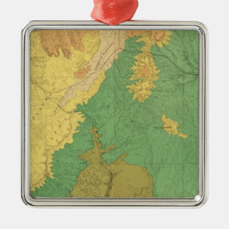 Geologic Map Of The Mesozoic Terraces Christmas Ornament